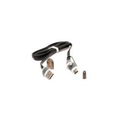 Cablu USB cu MicroUSB si Adaptor Type-C E-Boda CML QC301 - Negru