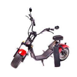 Moped Electric FreeWheel MotoRo S1, Autonomie 40 Km Viteza 45 Km/h Omologat RAR Motor 1200 W, Negru/Rosu