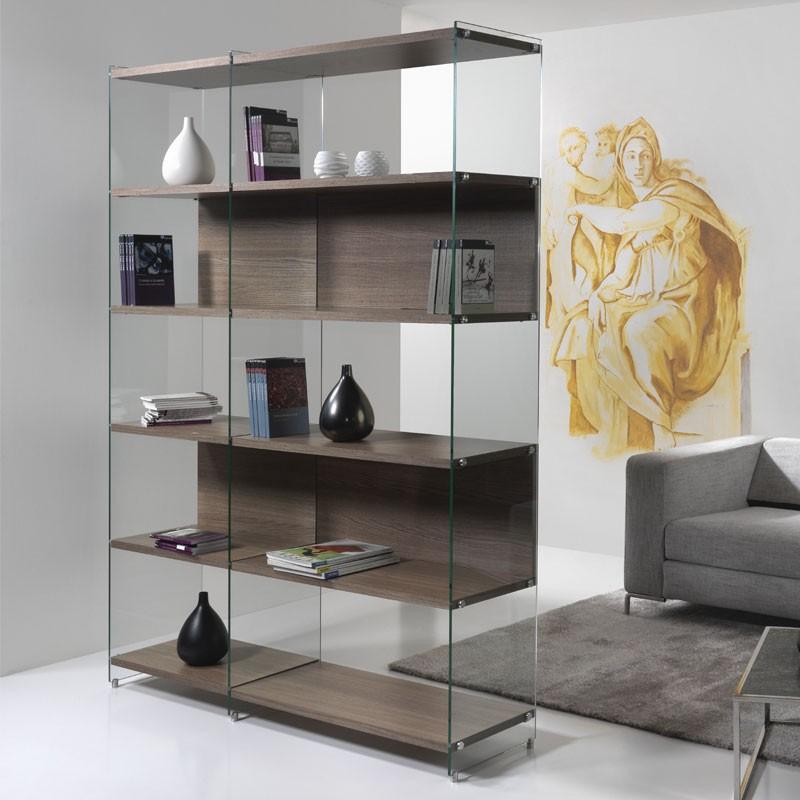 Byblos libreria vetro pezzani home - Mobili di palma ...