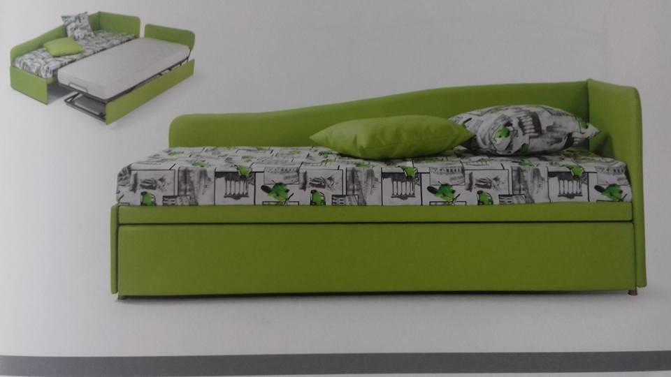 Divano letto singolo con secondo letto estraibile isa05 - Letto con secondo letto estraibile ...