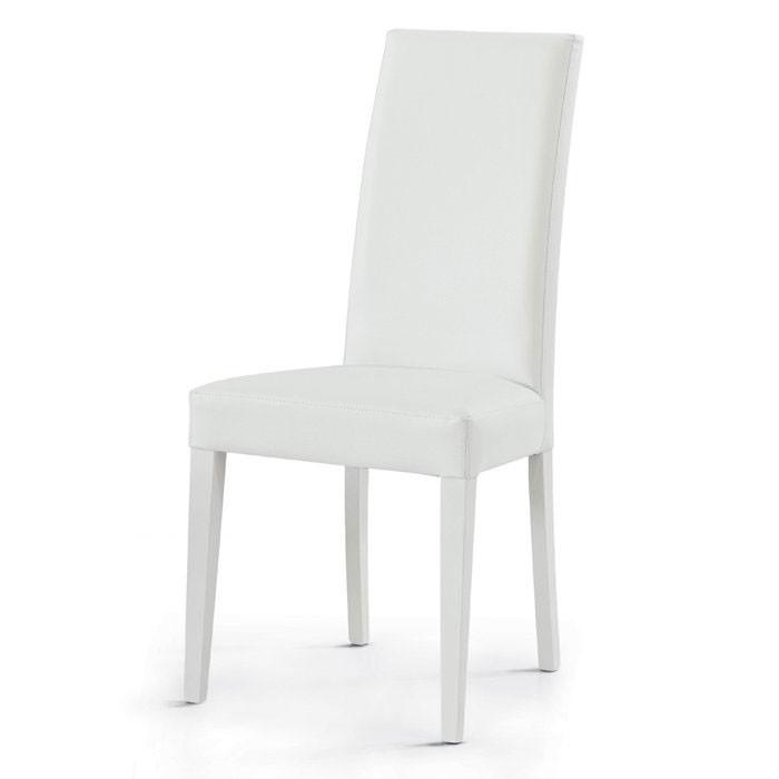 sedia in ecopelle bianca dim57