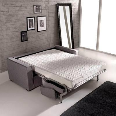 Divano letto notturno con materasso memory h 18 cm - Divano letto materasso 18 ...