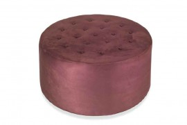 panca pouf tondo in ecopelle capitonneè diametro cm 120