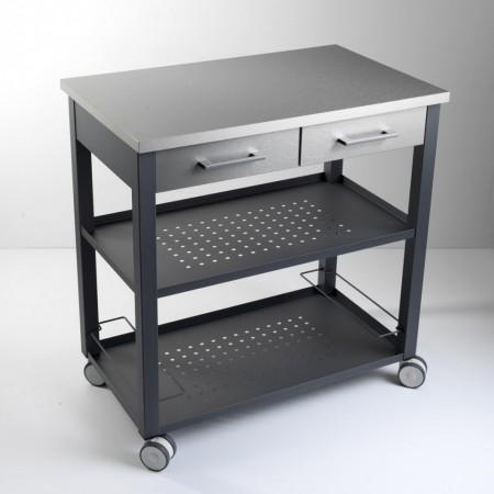 carrello da cucina verniciato bianco new chef di pezzani immagini