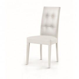 sedia capitonè ecopelle bianco dim678