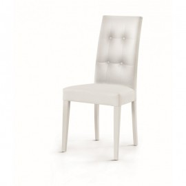 sedia capitonneè ecopelle bianco dim678