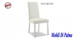 sedia in ecopelle bianca dim57 immagini