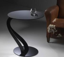 Tavolino swan 0/26 nero di pezzani