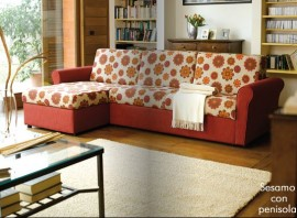 divano letto con penisola Sesamo di Hopplà immagini