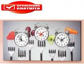 orologio su tela PINTDECOR 3 fusi orari immagini