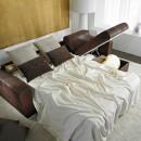 divano letto con penisola con contenitore hanoi di hopplà
