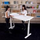 scrivania con altezza regolabile