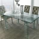 tavolo rettangolare in vetro allungabile MINI Glass di La seggiola