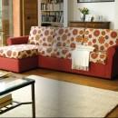 divano letto con penisola Sesamo di Hopplà