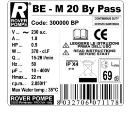 Poze Electropompa BE-M 20 BY-PASS