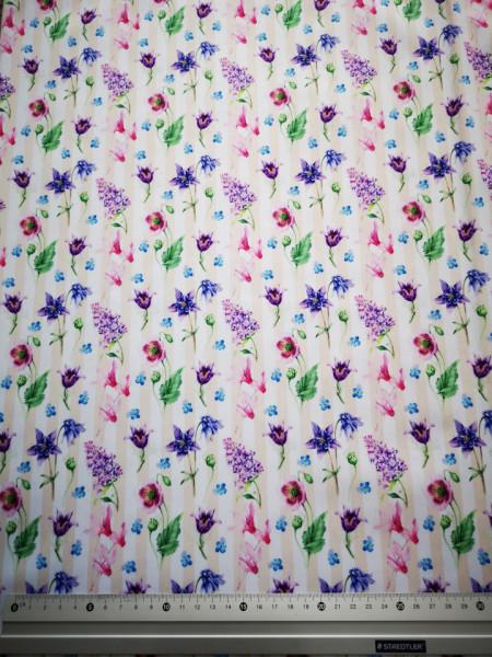 Flori de camp material PUL pentru scutece textile moderne
