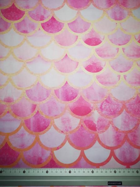 Rózsaszín-arany pikkelyek PUL anyag modern mosható pelenka készítéséhez