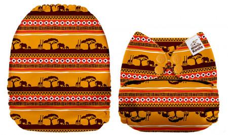 Afrika MamaKoala pelenka (széles nyílású zsebbel)