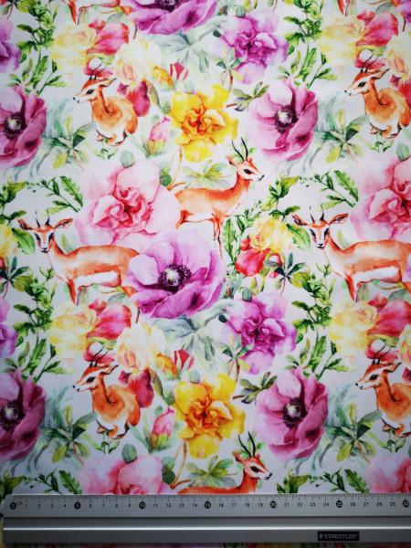Gazella a virágok közt PUL anyag modern mosható pelenka készítéséhez