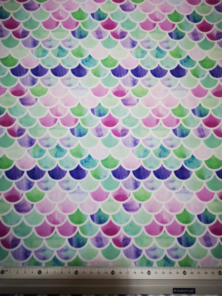 Solzi albastri-verzi material PUL pentru scutece textile moderne