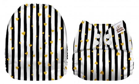Arany szivecskék MamaKoala pelenka (széles nyílású zsebbel)