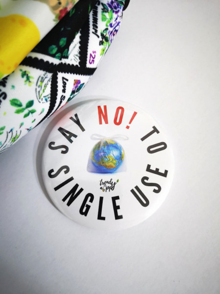 Feliratos hűtőmágnes - Mondj nemet az egyszerhasználatosra