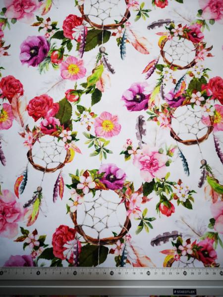 Flori si dreamcatcheri material PUL pentru scutece textile moderne