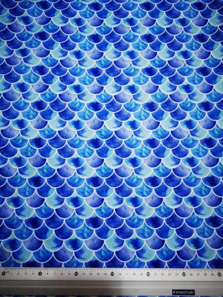 Kék pikkelyek PUL anyag modern mosható pelenka készítéséhez