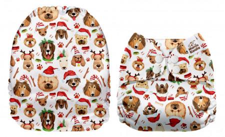 Karácsonyi kutyusok MamaKoala pelenka (széles nyílású zsebbel)