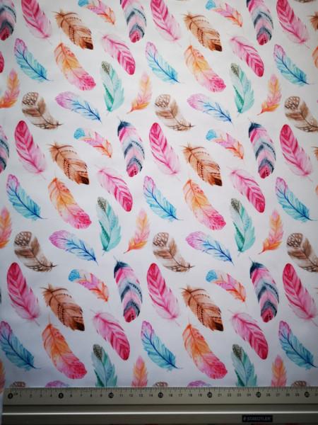 Rózsaszín tollak PUL anyag modern mosható pelenka készítéséhez