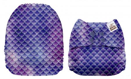 Szirén pikkelyek MamaKoala pelenka (széles nyílású zsebbel)