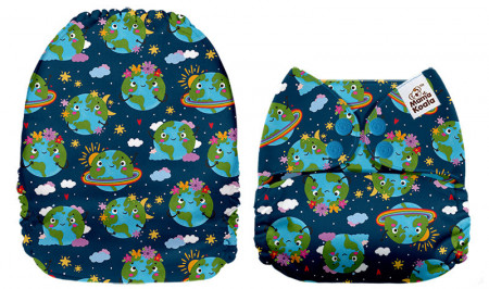 Zöld bolygó MamaKoala pelenka (széles nyílású zsebbel)