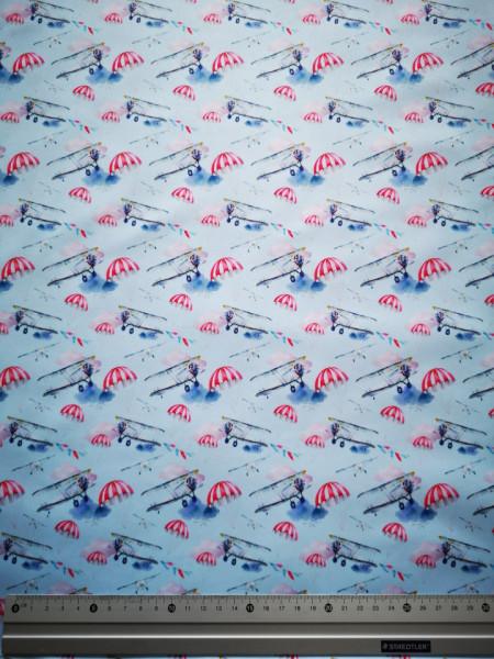 Avion si parasuta material PUL pentru scutece textile moderne