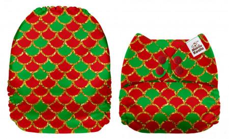 Karácsonyi sellő MamaKoala pelenka (széles nyílású zsebbel)