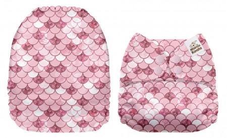 Szirénpikkelyek MamaKoala pelenka (széles nyílású zsebbel)