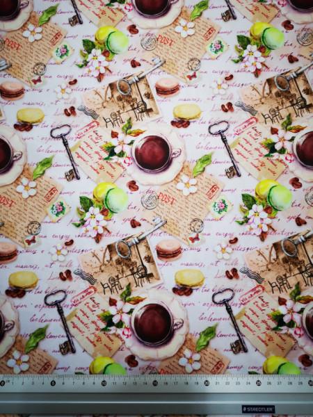 Cafea in Paris material PUL pentru scutece textile moderne