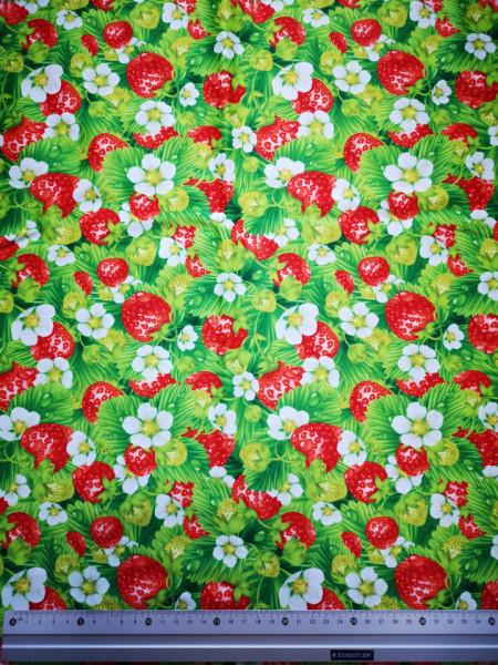 Capsuni inflorati material PUL pentru scutece textile moderne