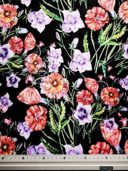 Pipacs és harangvirág PUL anyag modern mosható pelenka készítéséhez