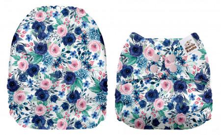 Csodaszép virágok MamaKoala pelenka (széles nyílású zsebbel)
