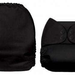 Fekete MamaKoala pelenka (széles nyílású zsebbel)