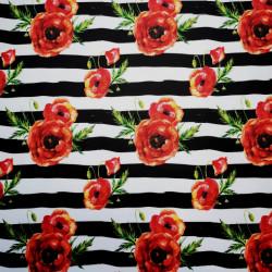 Maci pe fundal dungat material PUL pentru scutece textile moderne