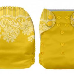 Mustársárga MamaKoala pelenka (széles nyílású zsebbel)