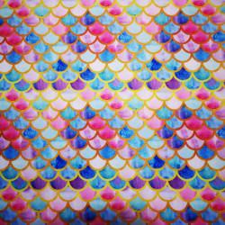 Solzi rosii, abastri si aurii material PUL pentru scutece textile moderne