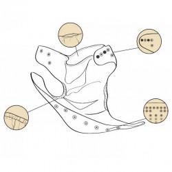Mentazöld csipke Mama Koala pelenka (széles nyílású zsebbel + szatén szalaggal)