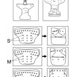 Scutec cu pepene desenata ElfDiaper (cu scai + buzunar cu intrare larga)