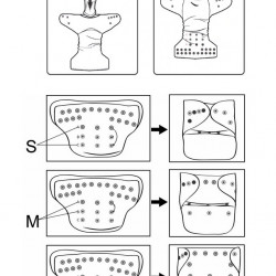 Unikornis MamaKoala pelenka (széles nyílású zsebbel)