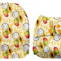 Kókusz és mangó MamaKoala pelenka (széles nyílású zsebbel)