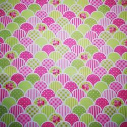Gradina inflorata material PUL pentru scutece textile moderne