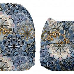 Kék virágok MamaKoala pelenka (széles nyílású zsebbel)