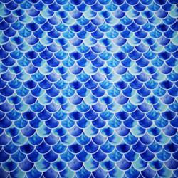 Solzi albastri material PUL pentru scutece textile moderne
